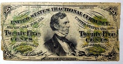 1863 3rd Issue, 25 cents Fractional Currency