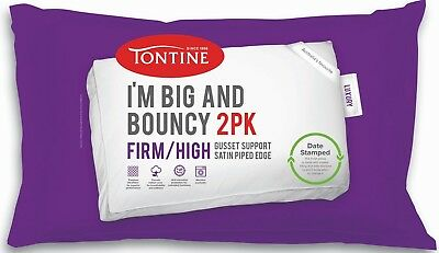 New Tontine I'm Big & Bouncy Firm & High PillowTwo Pack By OZSALE