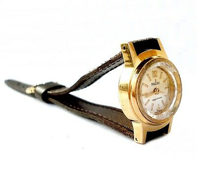 Vintage Watch Swiss PREXA Art Deco 1930c Mechanical Gold Plated Lady Working
