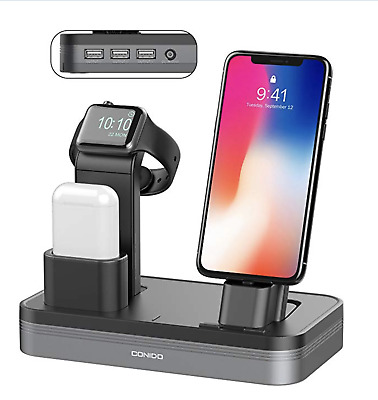 Conido 3 in 1 Charging Stand Compatible Apple Watch iPhone AirPods Charging Dock