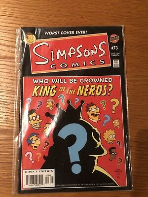 Bongo Simpsons Comics #73 ..  16 Years Old, Great Condition