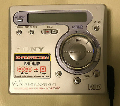 SONY MDLP Portable - Recorder MINIDISC MZ-R700PC - very good condition