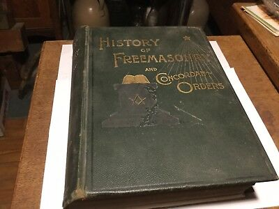 Vintage 1890 History Of Freemasonry And Concordant Orders