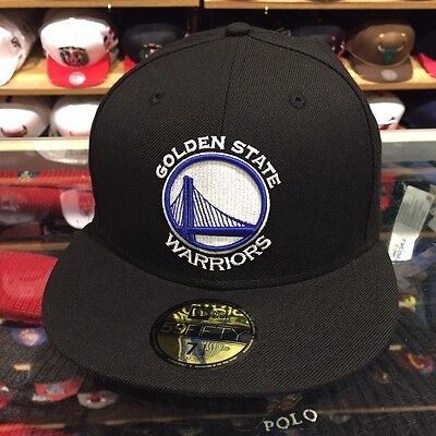 New Era Golden State Warriors Cappello Aderente Tutti Neri   Reale per  Jordan 11 a463f73af761