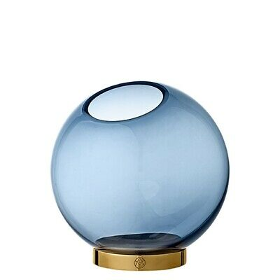 Globe Vase medium Navy/Gold Aytm