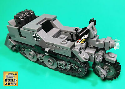 WW2 German Sd-Kfz-2 tracked motorcycle MOC brick for minifigure by Buildarmy®