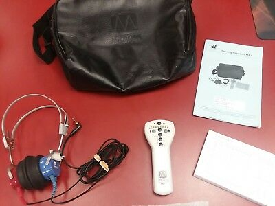 Maico MA-1 Audiometer With Headphones With audiogram controller, manual and case