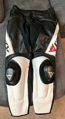 Dainese Delta Pro C2 perforated leather pants Size 56 EURO Motorcycle Track Race