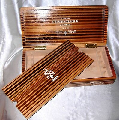 Alec Bradley JRS 10 Second Issue Rare Wood Cigar Box Stash Tobacco Hand Crafted