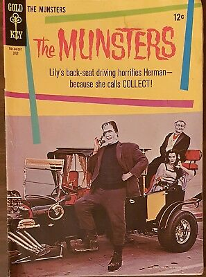 THE MUNSTERS #3 Gold Key Comic 1965 Photo Cover G/VG