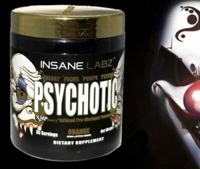 INSANE LABZ PSYCHOTIC GOLD [35 SVGS] preworkout i am god possessed redrum labs