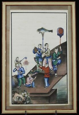 A Finely Painted Antique Chinese 19th C. Pith Rice Paper Painting, #3