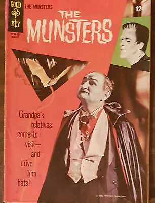 THE MUNSTERS #5 Gold Key Comic 1966 Photo Cover G+