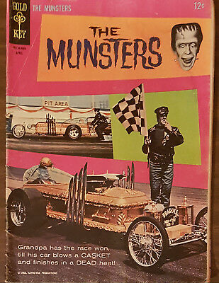 THE MUNSTERS #6 Gold Key Comic 1966 Photo Cover G