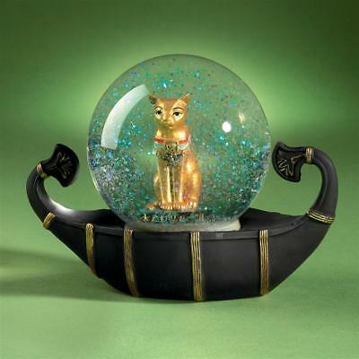 Design Toscano Bastet Cat Goddess of the Nile Water Globe Sculpture