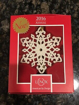 LENOX 2016 Snow Fantasies Snowflake Christmas Ornament New in Box