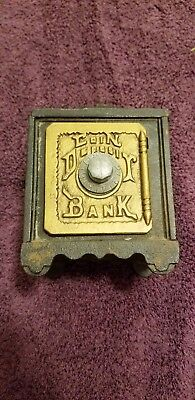 Vintage Cast Iron And Metal Coin Deposit Bank