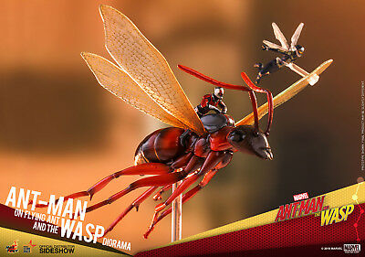 Hot Toys Marvel Ant-Man On Flying Ant y la Avispa Diorama Figura Nuevo Sellado