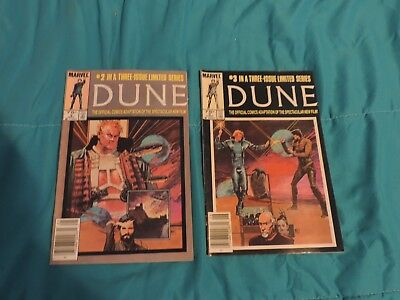 Lot of 2 Marvel Dune Comics 1985 ALMOST Complete Limited Series  Set 2,3