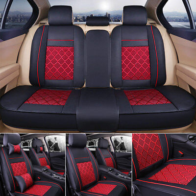 US 5 Seat SUV Seat Cover Cooling Mesh Car Cushion Front + Rear w/Pillows S/M/L