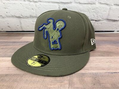 quality design 89a3b 9e966 Indianapolis Colts New Era 2017 Salute To Service Hat Cap Fitted Mens 7 1 2