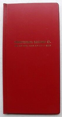 """VINTAGE PENNSYLVANIA RAILROAD NOTEBOOK RR for Form MP 124-H 6"""" x 12"""" Good Cond."""
