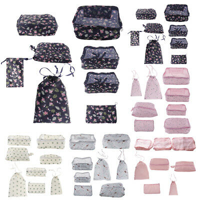 Baoblaze 8pcs Packing Cubes Set Travel Accessories Luggage Organizer Bags