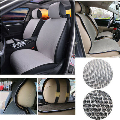 Universal Front Cushion Mesh Seat Covers Breathable for Car Truck Van SUV - Gray