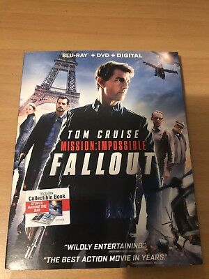 Mission: Impossible Fallout Blu-ray + DVD + Digital Tom Cruise Brand New Sealed!