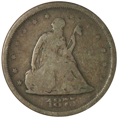 1875 25c Silver Seated Liberty Quarter