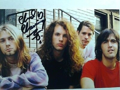 Chad Channing Hand Signed Autograph 4X6 Photo with Kurt Cobain  Nirvana Drummer