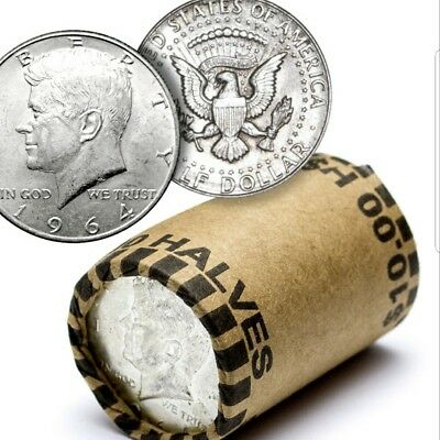 UNSEARCHED KENNEDY HALF DOLLAR ROLLS 90% silver possible!!!!!
