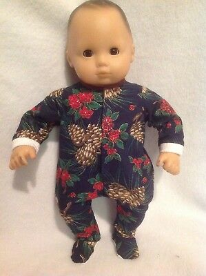 """15"""" Bitty Baby Christmas winter pjs sleeper pajamas Girl/boy Doll Clothes outfit"""