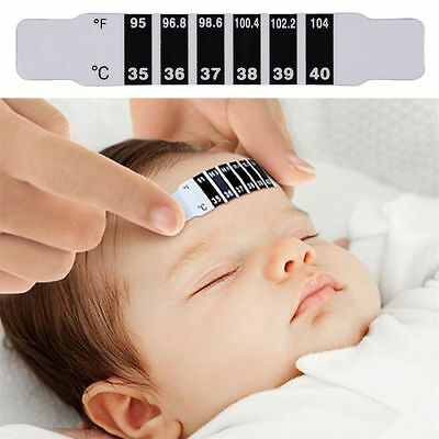 Fine Baby Kids Forehead Strip Head Thermometer Fever Body Temperature Testn