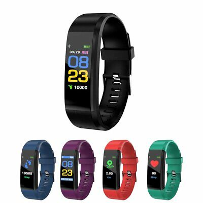 Fitness Activity Tracker Heart Rate Monitor Bracelet Pedometer Smart Watch SF