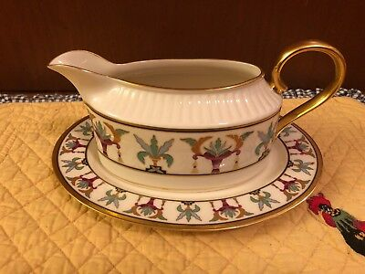 Lenox Tosca Gravy Sauce Boat With Underplate Grand Tier Collection