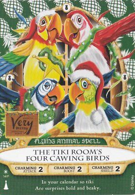 Sorcerers of the Magic Kingdom 2018 Christmas Party Card Tiki Room (B)