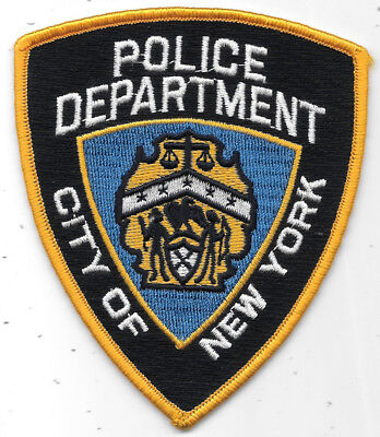 """Police Patch: Police Department City Of New York Patch Measures 4"""" X 4 1/2"""""""