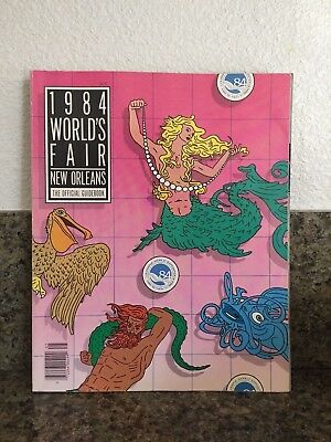 Vintage 1984 WORLD'S FAIR New Orleans THE OFFICIAL GUIDEBOOK Exposition Souvenir