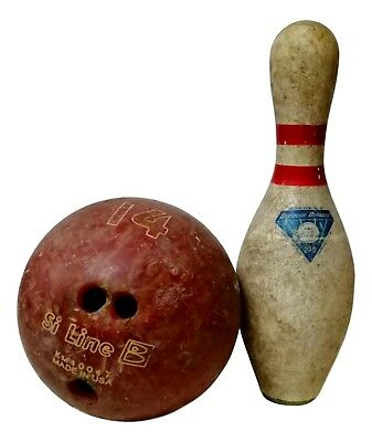 birillo e palla bowling vintage diamond duramid made in usa anni 70