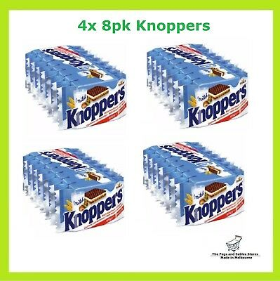 Knoppers 4 x 8pk Waffle Sandwich Chocolate MADE IN GERMANY