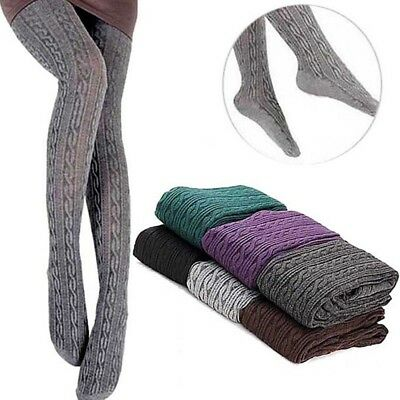 Fashion Womens Winter Warm Tights Knit Pantyhose Thick Cotton Tights Stockings