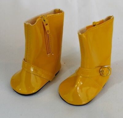 BOOTS YELLOW FOR 18 in AMERICAN GIRL DOLL SHOES CLOTHES ACCESSORIES