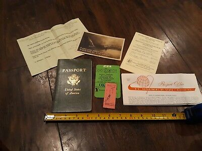 VINTAGE 1971 US Passport and extras MINT