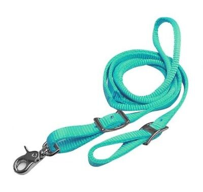 Showman PONY/YOUTH 6ft TEAL Nylon Contest Reins w/ Rolled Center!!! NEW TACK!!!