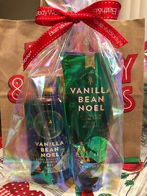 Bath & Body Works VANILLA BEAN NOEL Duo GIFT SET Body Cream & Shower Gel YUM