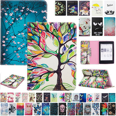 For New Kindle Paperwhite 10th Gen 2018 Magnet Painting Flip Leather Case Cover