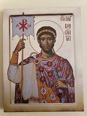 Equal to the Apostles Costantine, Orthodox Icon, Size 7, 15/16 x 10, 7/16 inches