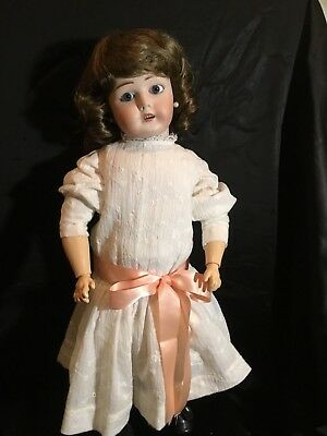 """20"""" Antique French Limoges Bisque Head Doll"""