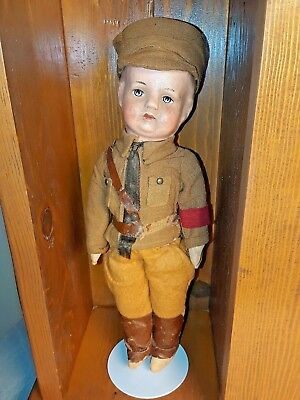 Vintage World War ll German Third Reich Brownshirt Stormtrooper Doll and Case